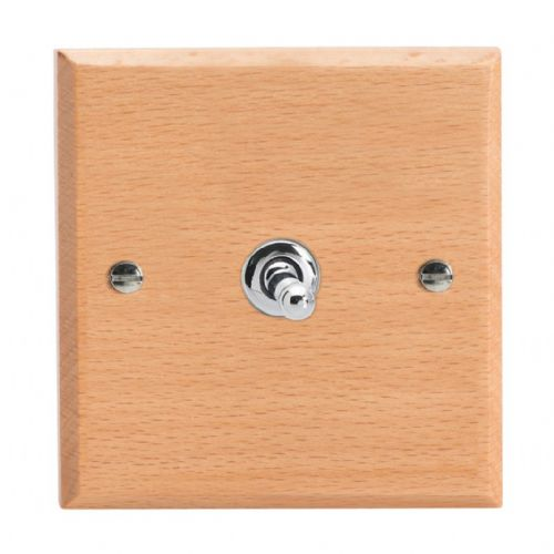 Varilight XKT1BE Kilnwood Scandic Beech 1 Gang 10A 1 or 2 Way Toggle Light Switch